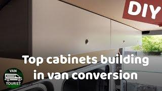 Top Cabinets Diy Building Storage For Van Conversion Sprinter Do It Yourself Wooden Cupboards