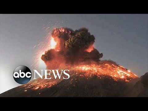Volcanic eruption sends