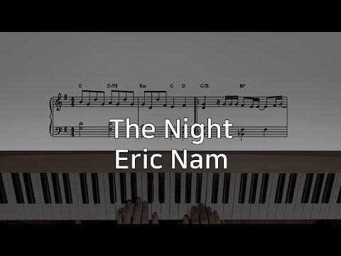 남자친구 OST 에릭남 (Eric Nam) - 그 밤 (The Night) 조금쉬운 피아노 악보 Piano Sheet little easy