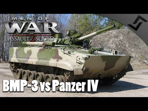 BMP-3 vs Panzer IV - Men of War: Assault Squad 2 - Red Rising Mod - Russian Campaign #1