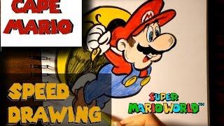 CAPE MARIO (Super Mario World) - Speed Drawing | NINTENDO WEEK