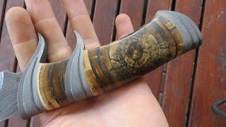 Нож с рукояткой из бивня мамонта