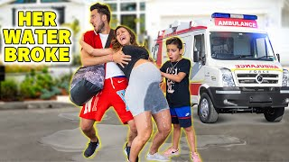 My WATER BROKE Prank!! UNEXPECTED 😱 | The Royalty Family