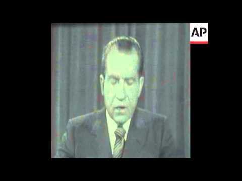 SYND 23-3-70 PRESIDENT NIXON MAKES A STATEMENT ABOUT THE POSTAL STRIKE