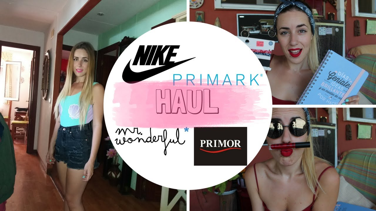 SUPER HAUL DE VERANO PRIMARK+MR WODERFUL+WALLAPOP+PRIMOR+NIKE / Erikastaygold