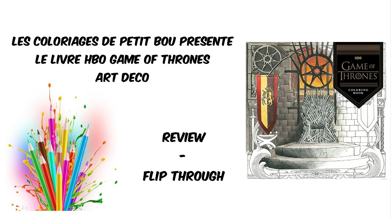 Game Of Thrones Hbo Coloring Book Youtube