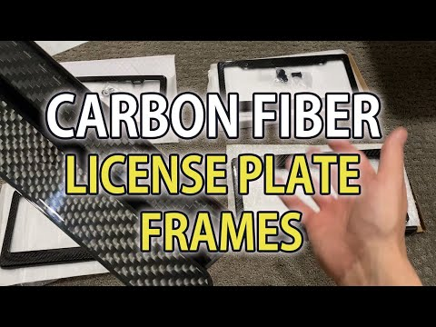 Carbon Fiber License Plate Frames From EBay. Are They Any Good?