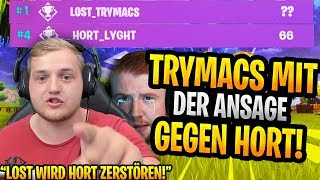 Trymacs with the ANSAGE vs. Hoard! | Letshe shows its controller Aim😱| Fortnite Highlights English