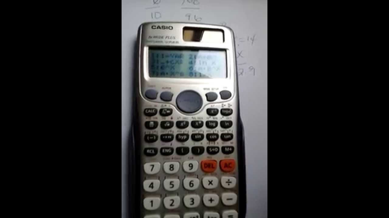 how to perform linear interpolation manually and on casio fx 991de