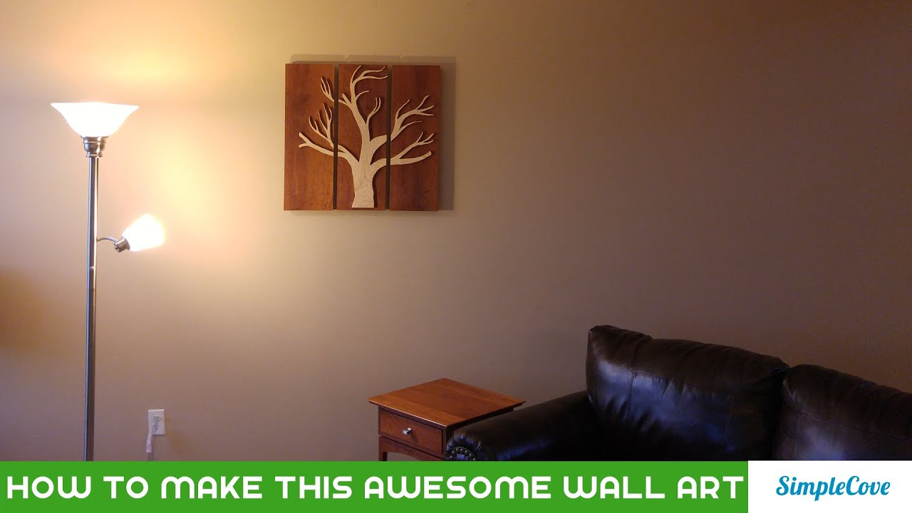 Cherry And Curly Maple 3 Panel Wall Art Youtube