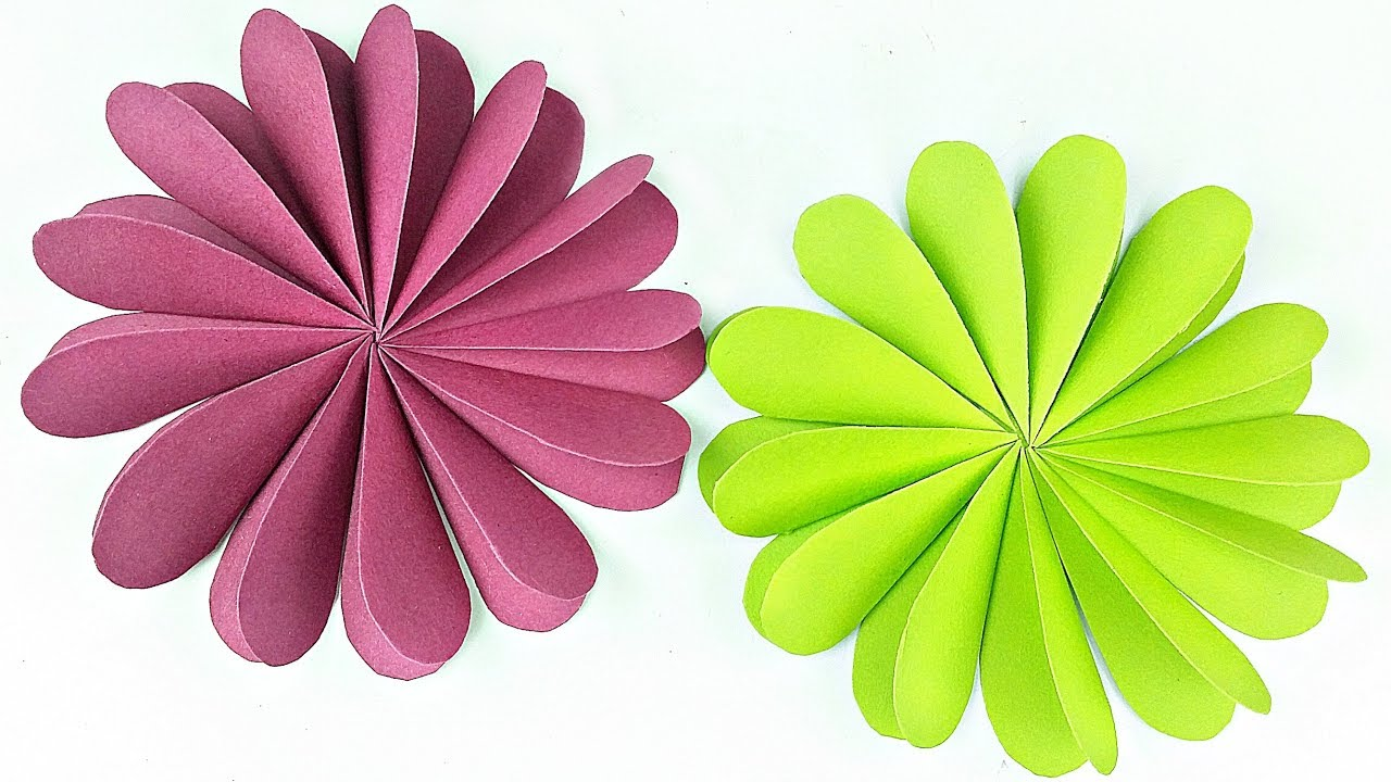 Heart Flowers Paper Circle Flower For Wall Backdrop Decoration Arts And Crafts Easy For Kids