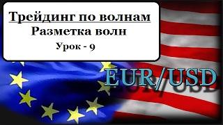 Рынок Форекс. Разметка волн. Урок - 9. EURUSD.