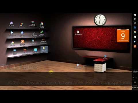 Classic 3d Desktop Workplace Wallpaper How To Make A Beautiful Classic 3d Desktop In Windows Doovi
