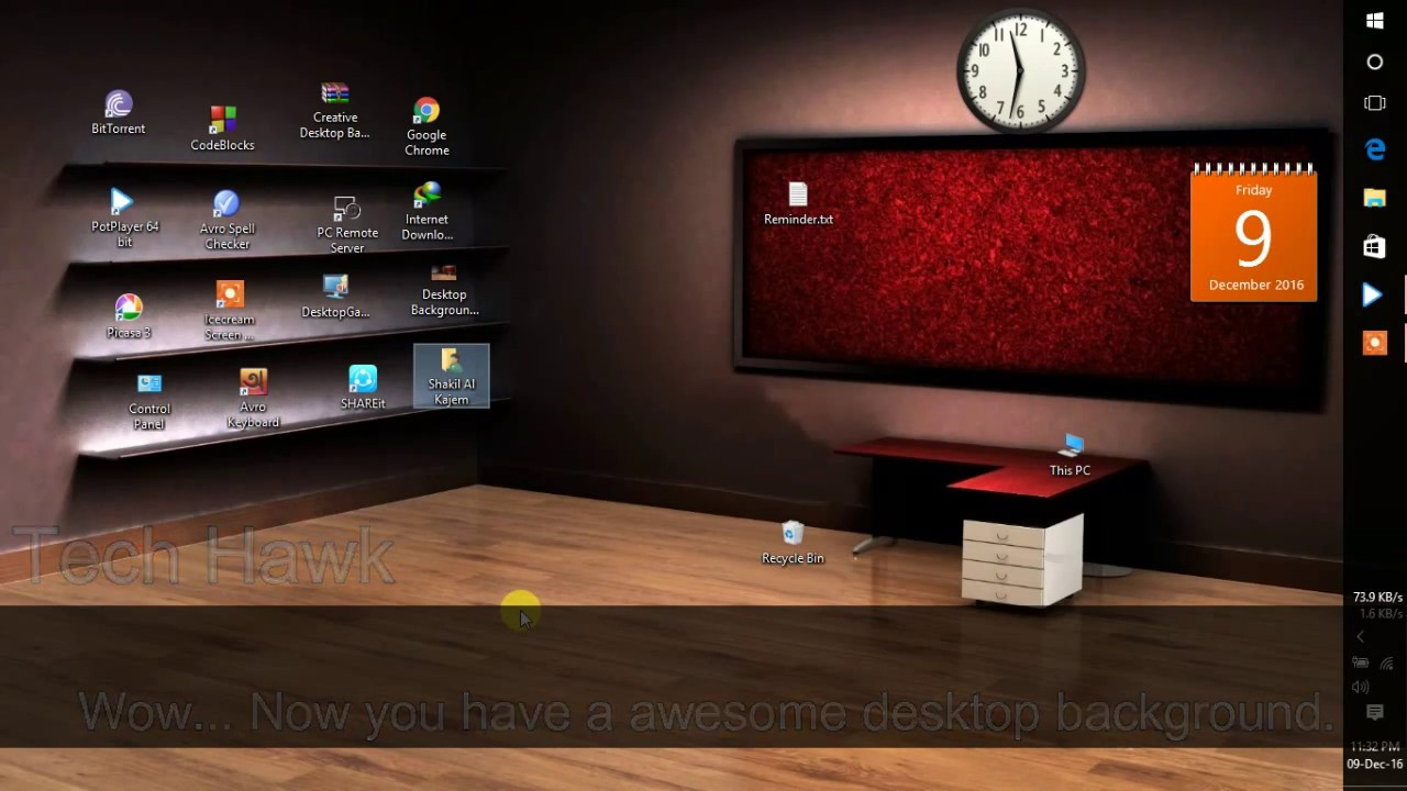 creative 3d desktop background wallpaper windows 10 - youtube