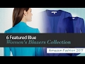 6 Featured Blue Women's Blazers Collection Amazon Fashion 2017
