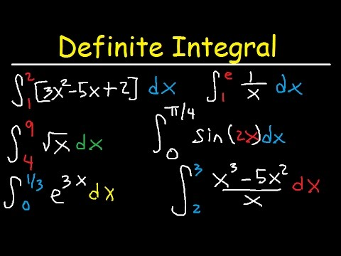 Definite Integral Calculus Examples, Integration  Basic Introduction, Practice Problems