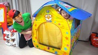 보람이와 또치의 마법의 텐트 장난감 놀이 Boram and Playhouse Tent Toy