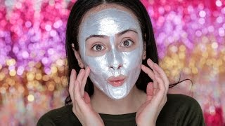 Live Test - SILBERNE GESICHTSMASKE! HYPE! | First Impression Glam Glow Maske | Hatice Schmidt