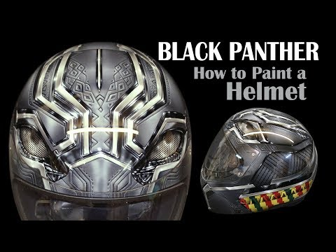 How To Paint A Helmet: Black Panther Design: JBo Airbrush