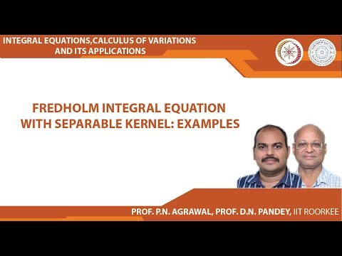 Fredholm integral equation with separable kernel: Examples