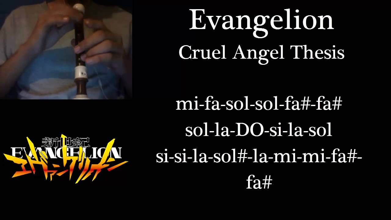 Cruel angel thesis chords