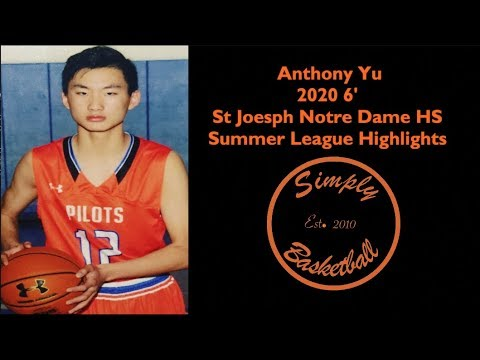 Anthony Yu Is The Future of Saint Joesph Notre Dame HS I Summer League Highlights