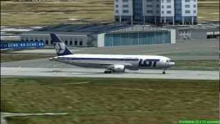 FS2004 - Polish Airlines Boeing 767-300 Flight from Warsaw Okecie to Rome Fiumicino