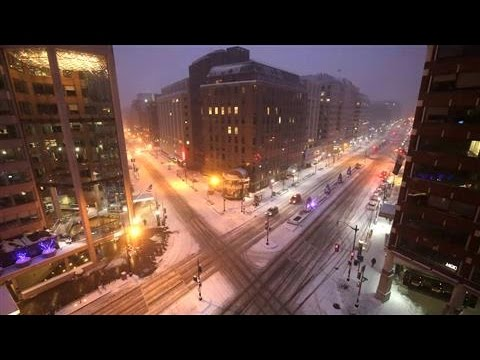 Time-Lapse of Historic Washington, D.C. Blizzard