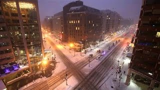 Time-Lapse of Historic Washington, D.C. Blizzard