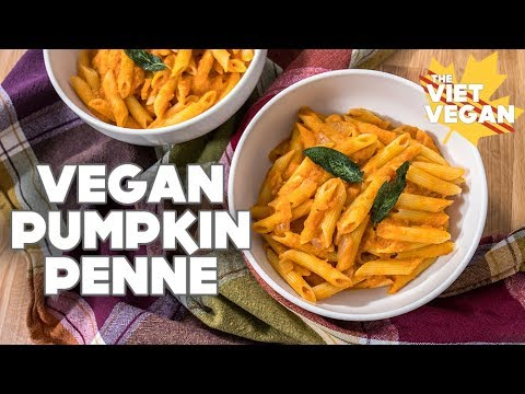 Vegan Pumpkin Penne [ collab with It Doesn