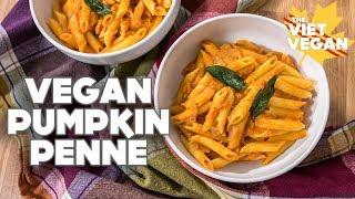 Vegan Pumpkin Penne [ collab with It Doesn't Taste Like Chicken ]