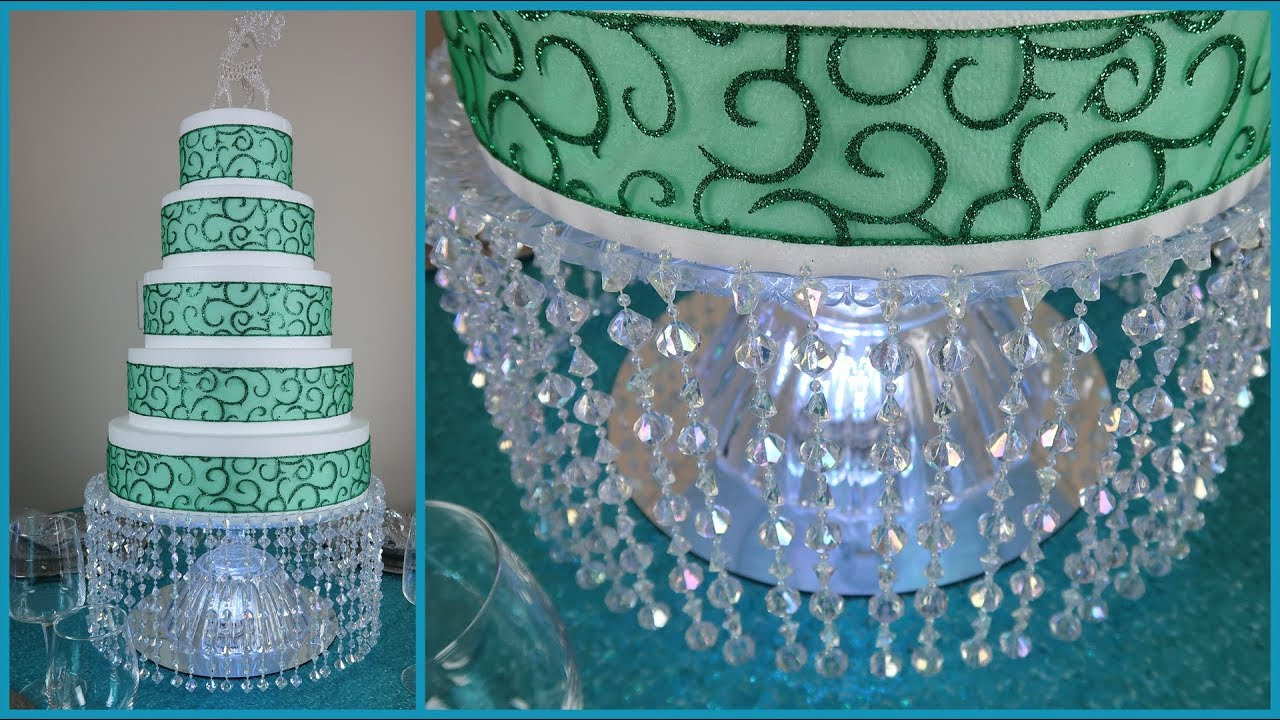 Diy Lighted Chandelier Cake Stand