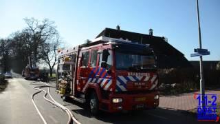 Brand in rietendak van woning Kring van Dorth