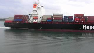 hapag lloyd container ship dublin express ,southampton port uk