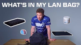 What does RUSH bring with him when going to LAN's?