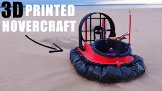 3D Printed RC Hovercraft on SPEED!
