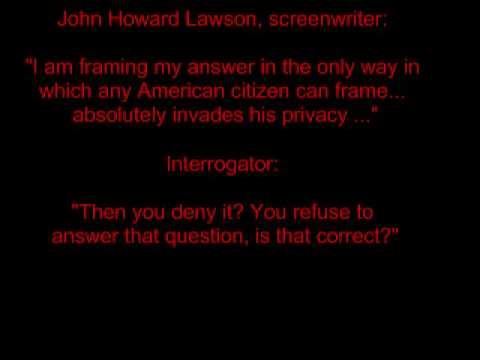 john howard lawson testimony
