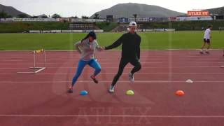 Ivana Spanovic igra  kolo na treningu