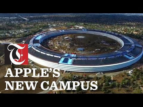 Drone video reveals Apple Inc.