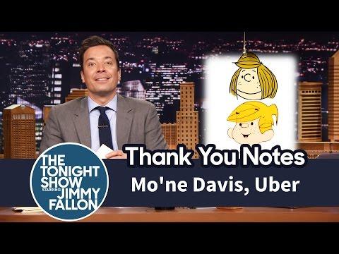Thank You Notes: Mo'ne Davis, Uber