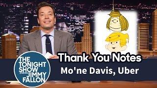 Thank You Notes: Mo