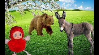 ОСЛИК и МАЛЕНЬКАЯ ПРОКАЗНИЦА!!! НЕ ПОВЕЗЛО... Мультфильмы про животных для детей