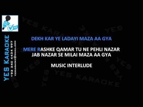 Mere Rashke Qamar - Video Original Karaoke - RAEES - Arijit Singh - Mahira Khan - Shah Rukh Khan