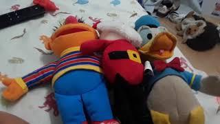 Plush Toys, Ernie, Santa, Donald Duck