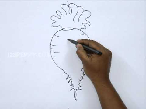 How To Draw A Cartoon Beetroot Youtube