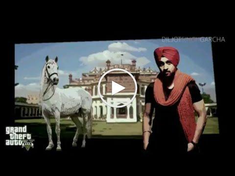 GTA 5 With Diljit Dosanjh || JATT FIRE KARDA || LATEST PUNJABI SONG 2015