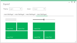 C# Tutorial - How To Use Metro Framework Metro Style Manager | FoxLearn