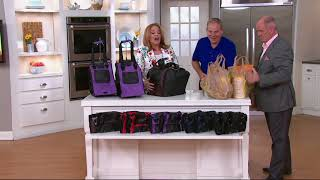 CarryMore Set of 2 Resuable Shopping Bags with Cart Clips on QVC