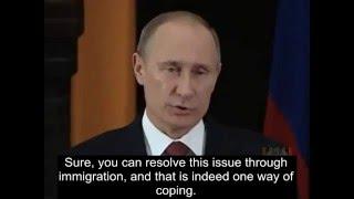 Putin on homosexuality