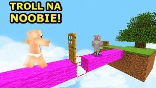 MINECRAFT NOOB VS PRO VS YOUTUBER- Najlepszy Troll Na Graczy!